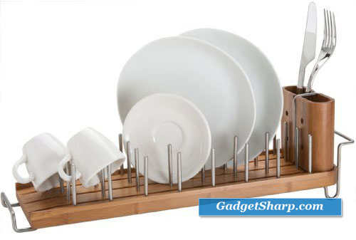 DrainFOREST Bamboo Dish Rack