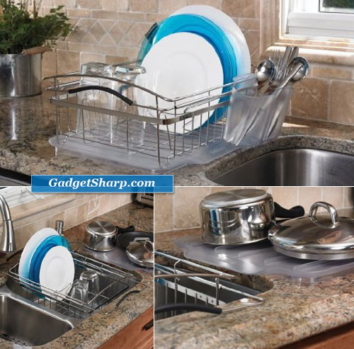Polder 3 Piece Compact Dish Rack System