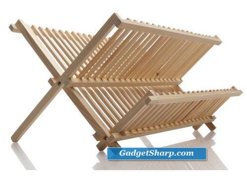 Norpro Pine Wood Folding Dish Rack
