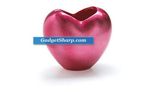 Hot Pink Heart Shaped Vase