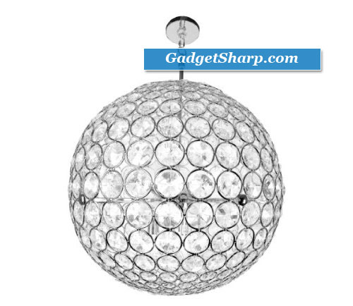 21-Inch Crystal Sphere Chandelier
