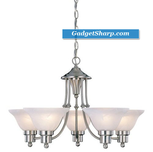 24-Inch by 15-Inch Chandelier Brushed Nickel