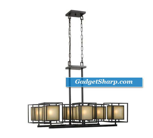 Hilden 6-light Chandelier, Aged Bronze