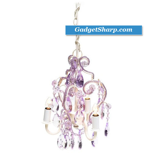 Tadpoles Three Bulb Chandelier in Lavender Topaz