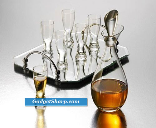 Studio Silversmiths Cordial Set Decanter Set With 6 Glasses