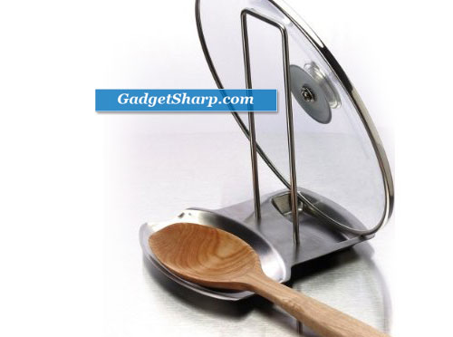 Progressive International Stainless Steel Lid and Spoon Rest