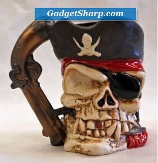 Pirate with Gun Handle 24 oz Tankard Mug