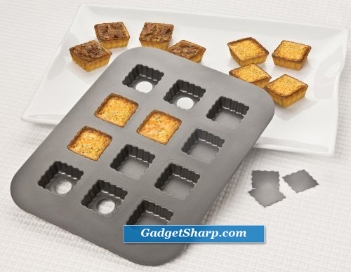 Chicago Metallic 26635 12-Cup Lift & Serve Single Squares Pan