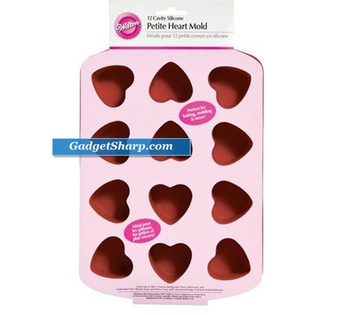 Silicone 12 Cavity Heart Pan