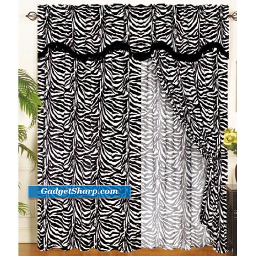 Zebra Animal Curtain Set