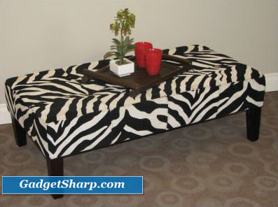 4D Concepts Joanie Zebra Coffee Table