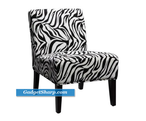 Dolce Lounge Chair - Zebra Print