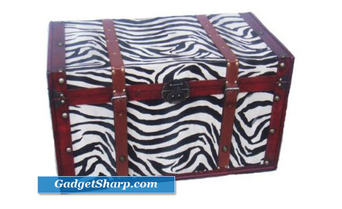 Safari Phat Tommy Zebra Print Trunk
