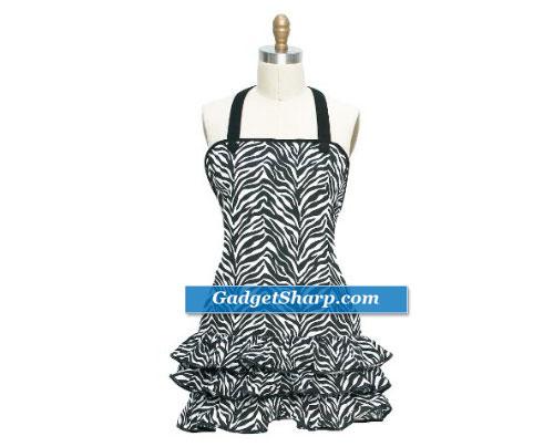 Kay Dee Designs Zebra Stripe Frill Apron