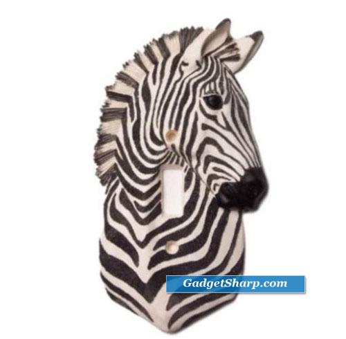 Zebra Single Lightswitch Plate Cover