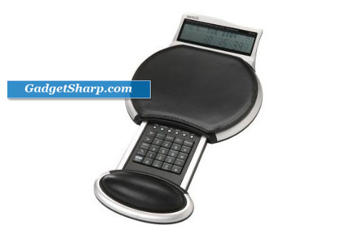 Datexx MouseStation Executive Leather Mouse Pad with Calculator and World Time Clock