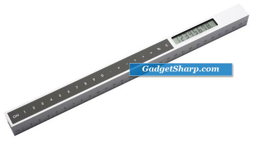 Sleek Calculator & 30cm Ruler Combined