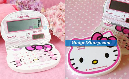 Hello Kitty Electronic Solar Small Foldable Calculator