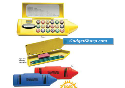 Solar Powered Calculator and Pencil Box