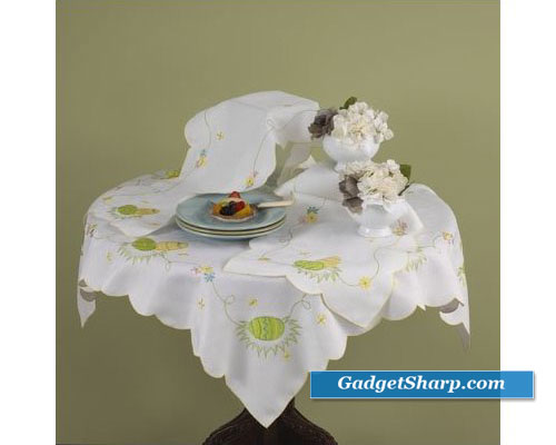 Easter Embroidered Table Cloth
