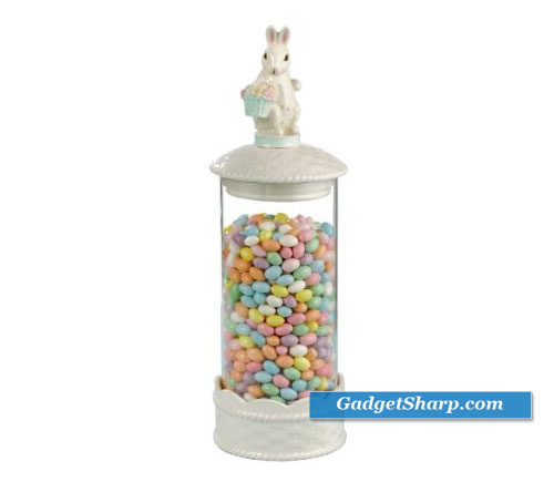 15-Inch by 4-1/2-Inch Bunny Canister