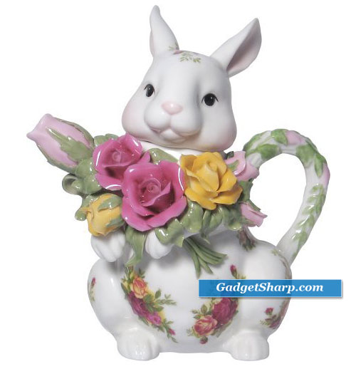 Royal Albert Old Country Roses Spring Bunny Teapot
