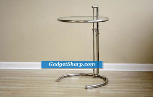 Baxton Studio Eileen Gray-style Stainless Steel Accent Table