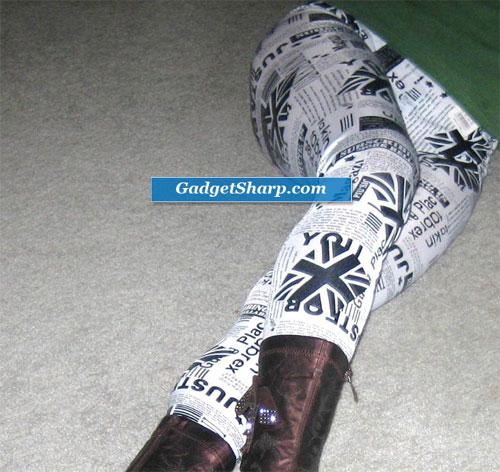 Newspaper print legging