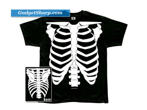 Skeleton Glow In The Dark Costume T-Shirt