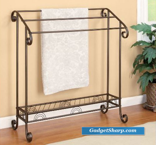 Freestanding Towel stand in Red Coffee finish