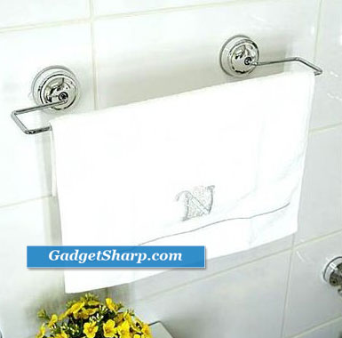Towel Bar - Attaches With Suction Cups