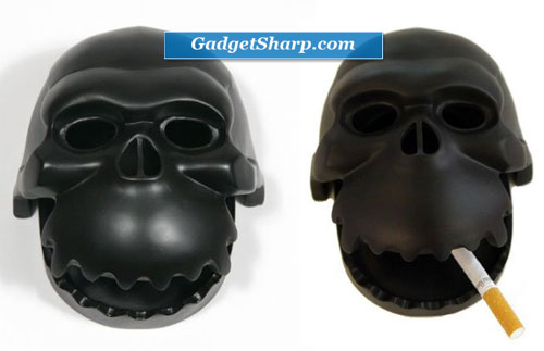 David Weeks Skullrilla Black Ashtray
