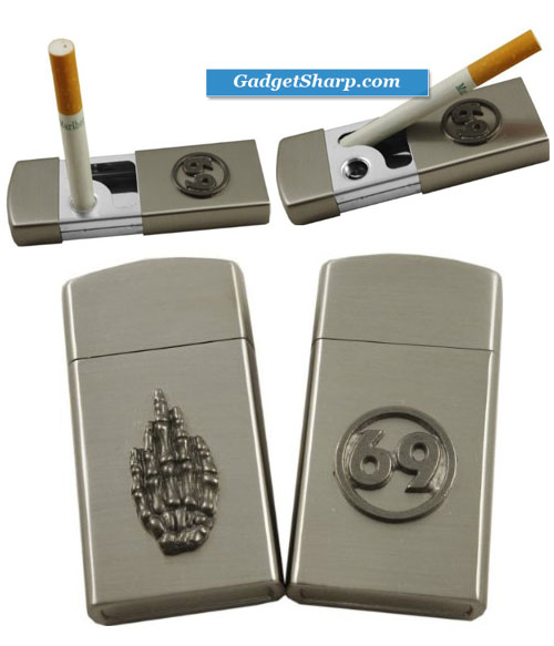 Stainless Steel Portable Pocket Ashtray with Snuffer