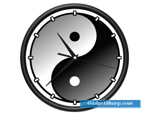 Wall Clock karma Feng Shui Asian Gift