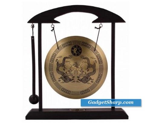 Zen Art Brass Feng Shui Desktop Gong