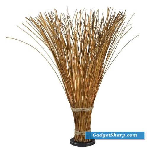 Sheaf Floor Lamp, Natural Reed