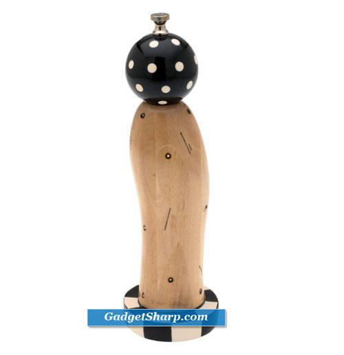 Natural Wood Pep-Art Pedestal Pepper Mill