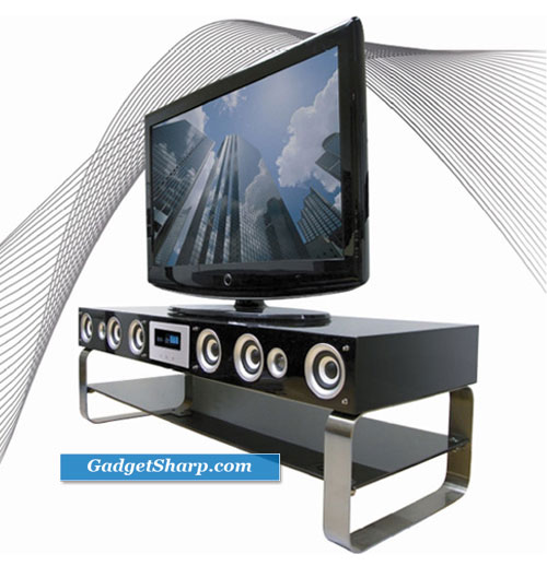 Onei Solutions TV Stand Doubles as Home Theater System
