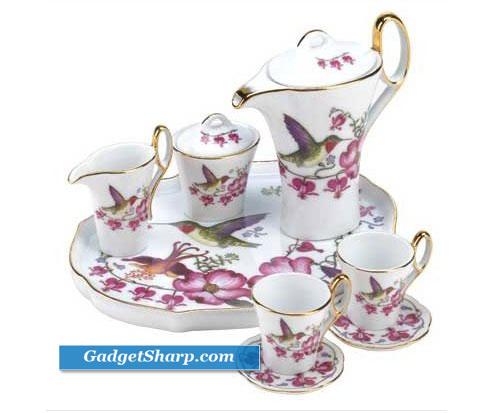 Hummingbird Miniature Tea Set