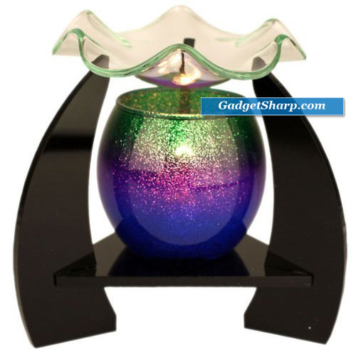 Green, Purple, and Blue Electric OIL Warmer