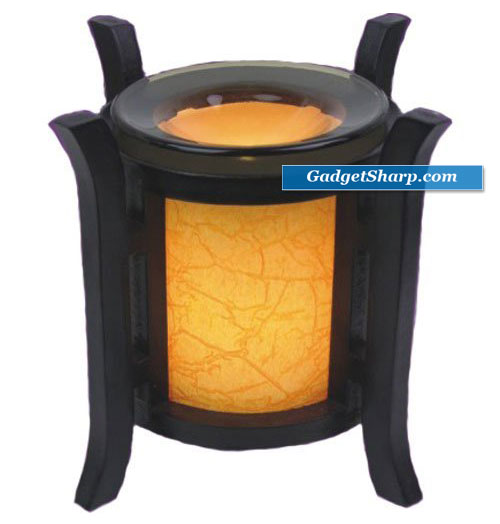 Lantern Style Orange Electric Oil Warmer