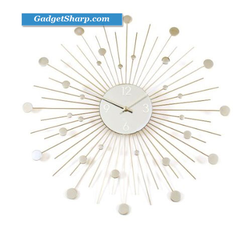 Starburst Retro Wall Clock
