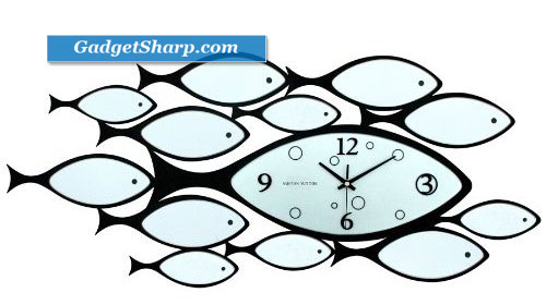 Ashton Sutton Wall Clock, Under the Sea With Fish