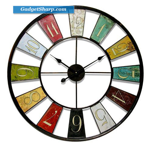 Infinity Instruments Kaleidoscope- 32 Metal Wall Clock