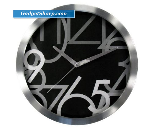 Geneva 12-Inch Metal Wall Clock
