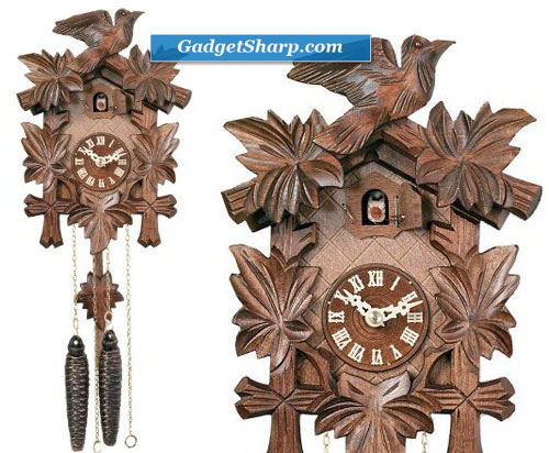 One Day Hand-Carved Cuckoo Clock