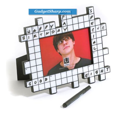 Umbra Crossword 4-Inch-by-6-Inch Dry-Erase Frame with Pen
