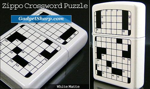 ZIPPO, Crossword Puzzle