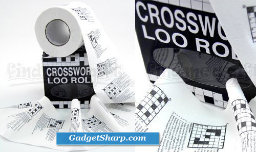 Crossword Puzzle Toilet Roll