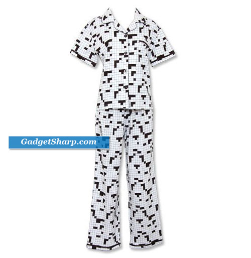 Crossword Black & White Shortsleeve Lounger Pajama